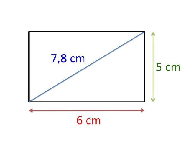 høyde bredde og diagonal i et rektangel geometri firkanter